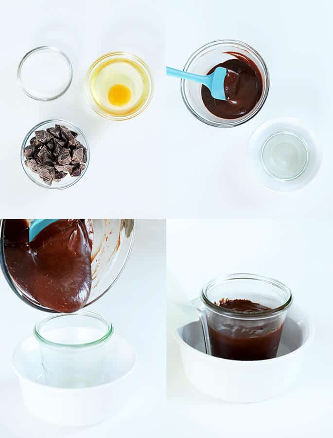 3 Ingredient Flourless Chocolate Cake for 1, Step by Step