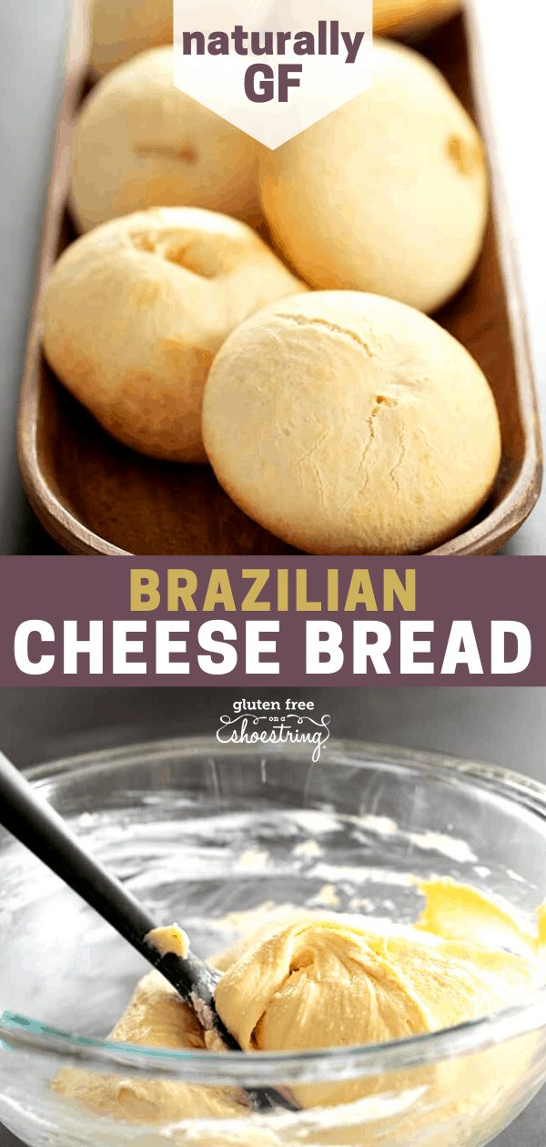 These Brazilian cheese bread rolls are made simply with tapioca starch, some oil, cheese, and milk. With a thin outside crust and a chewy center. Naturally gluten free!