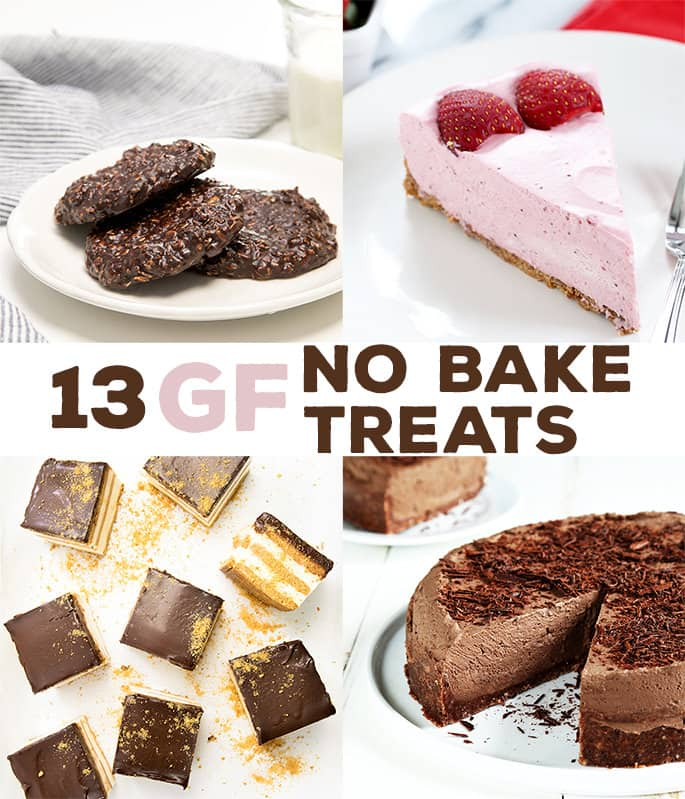 These 13 recipes for no bake gluten free desserts are for those days when you just can't bother turning on the oven, but youstill want a treat!