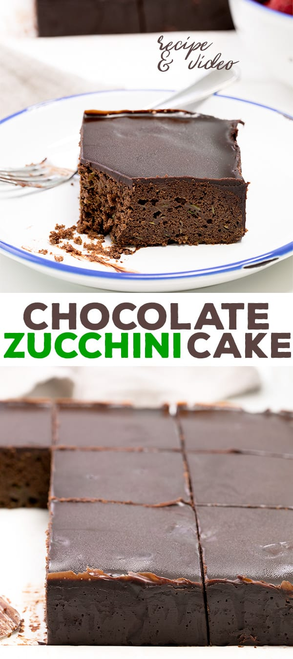 This gluten free chocolate zucchini cake is simply the richest, most moist chocolate cake ever. What else were you going to do with all that zucchini?