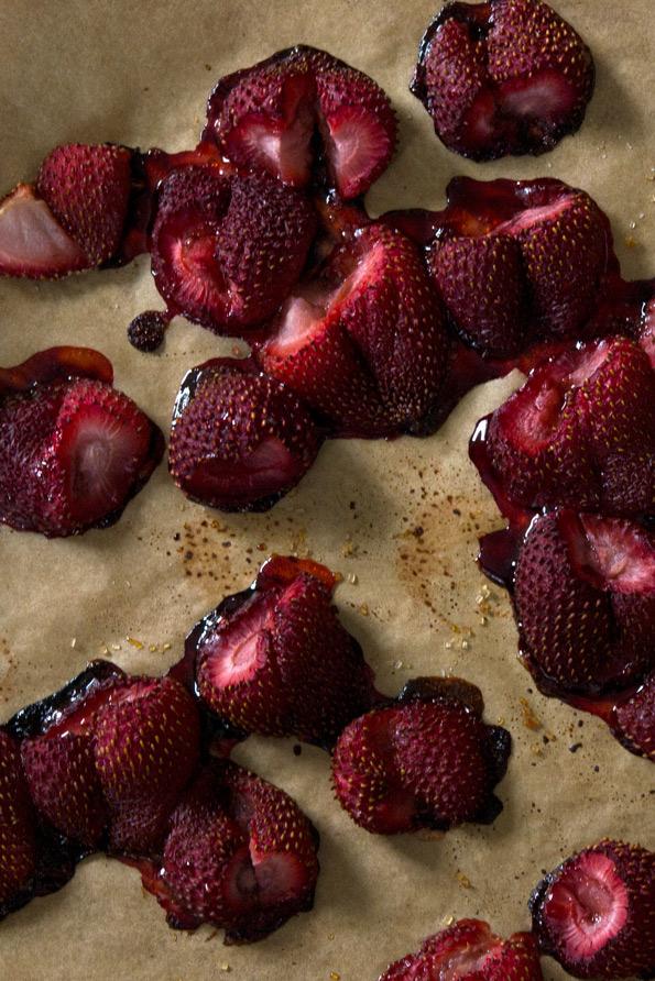 Roasted Strawberry Gluten Free Ice Cream: No Machine Needed!