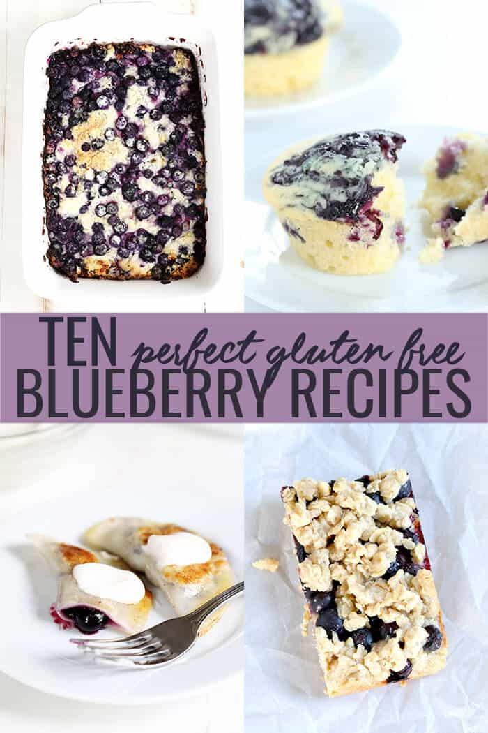 These ten gluten free blueberry recipes offer all the very best ways to use summer's sweetest berry. Bake them with fresh fruit in season, and frozen all year long!