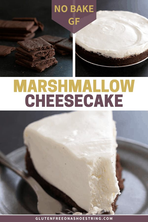 For the creamiest no bake cheesecake, combine homemade marshmallows with cream cheese whipped cream. If you've wondered, marshmallows are gluten free!