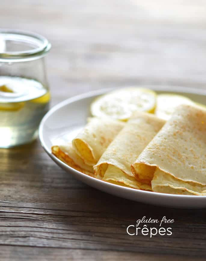 Gluten free crêpes are so, so easy to make (make the batter ahead of time, you'll get best results). They take only a few pantry ingredients. They're even easier to make than gluten free flour tortillas, plus they kick up an ordinary meal right to extraordinary.