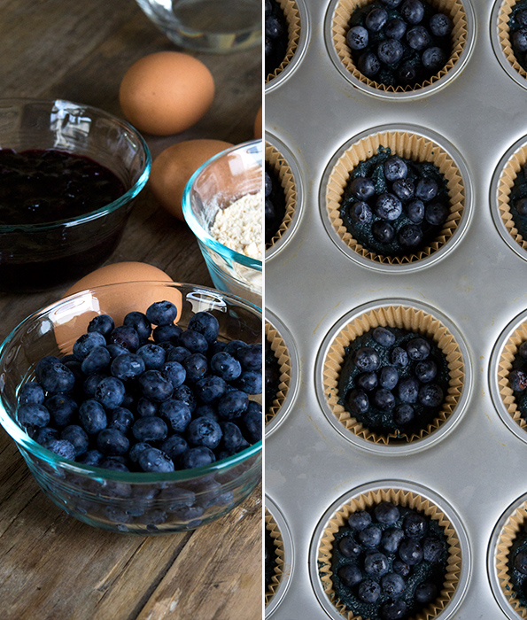 These light and tender Paleo blueberry muffins are the healthy, low-carb gluten free breakfast solution you've been looking for.