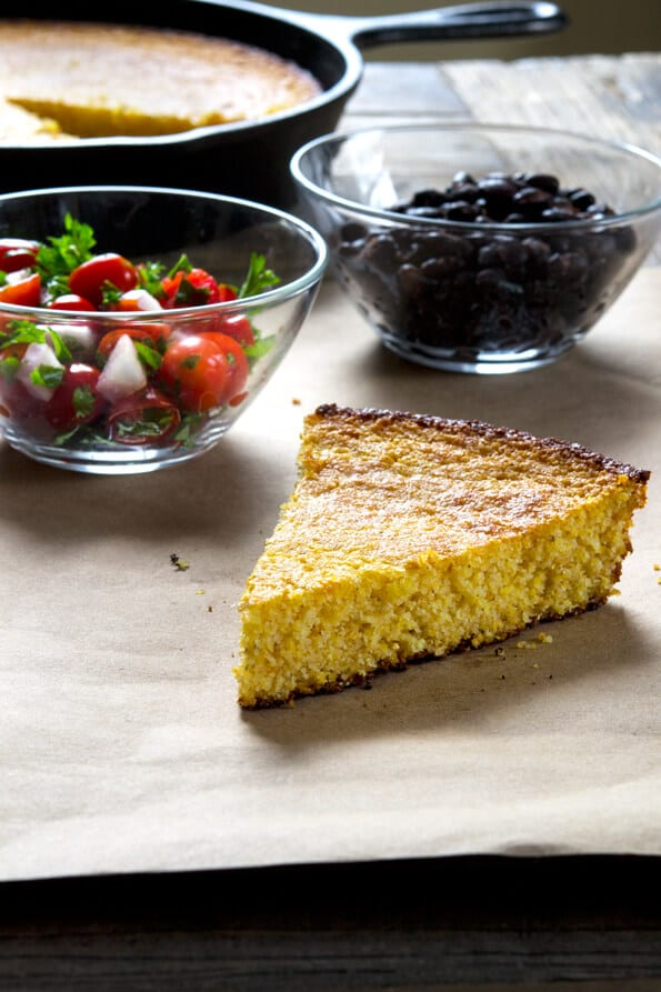 If you're looking for the perfect side to almost any meal, this naturally gluten free cornbread is just the thing. The only grain is cornmeal—no rice flour blend—and this forgiving recipe can be made with sour cream or even milk (nondairy is fine!) instead of yogurt.