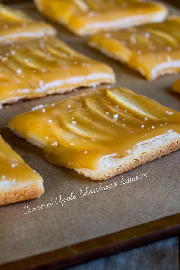 Gluten Free Caramel Apple Shortbread Squares