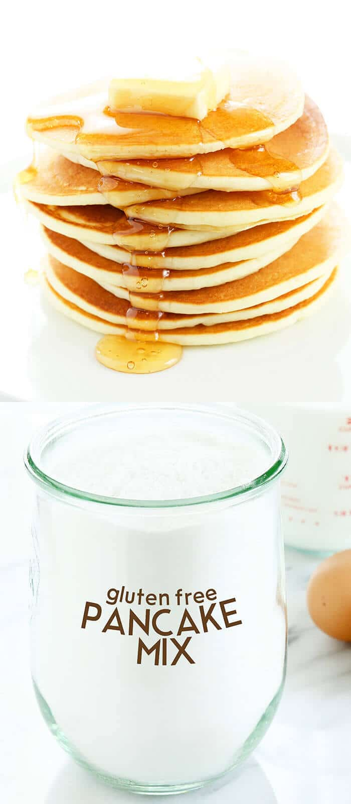 Gluten free pancakes mix that's perfect for everything from pancakes and muffins to breakfast bakes. Ditch that box and D.I.Y. a better pancake!