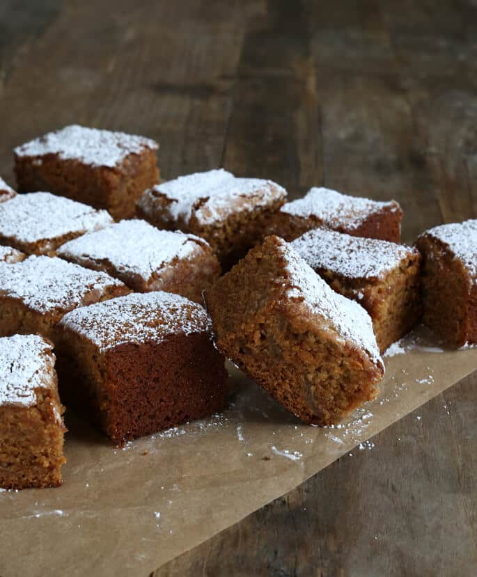 This lightly spiced, tender gluten free apple gingerbread snack cake is perfect for enjoying with a cup of tea after a good meal, or with your morning coffee (preferably after the children have already left for school, if you're me).