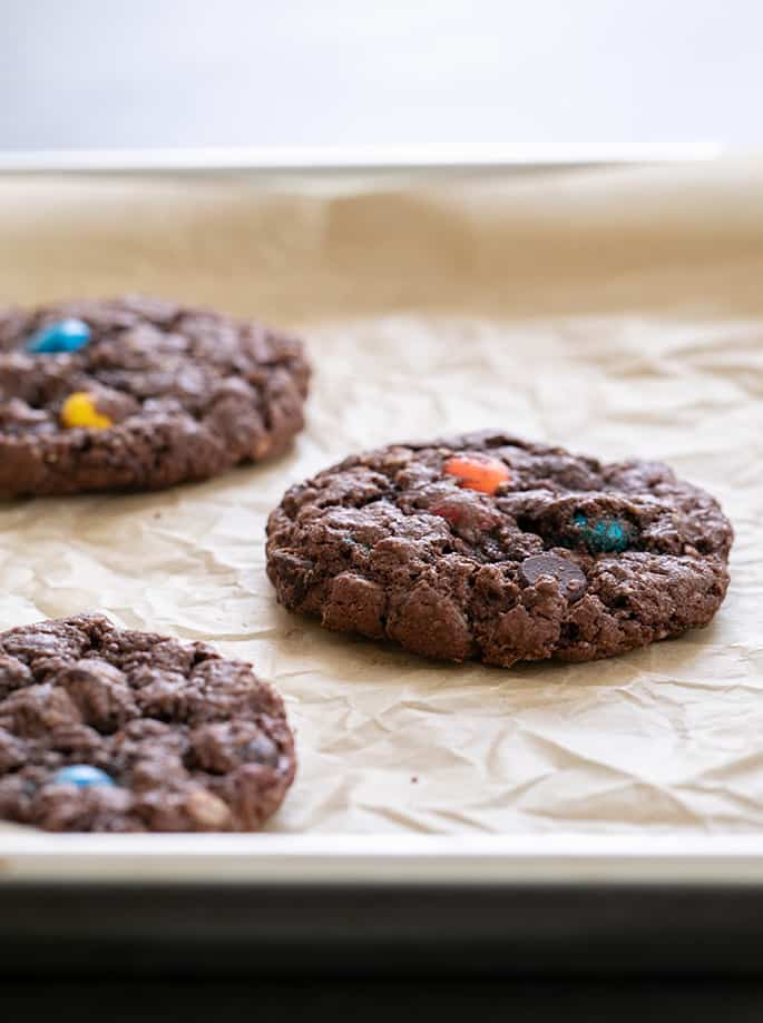 These gluten free Nutella monster cookies are like a cross between a nut butter cookie and an oatmeal cookie. Made with Nutella instead of the traditional peanut butter, they're a truly special treat.