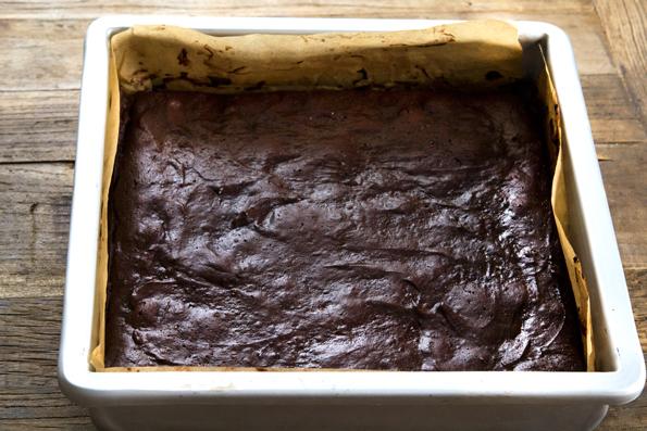 brownies in metal pan