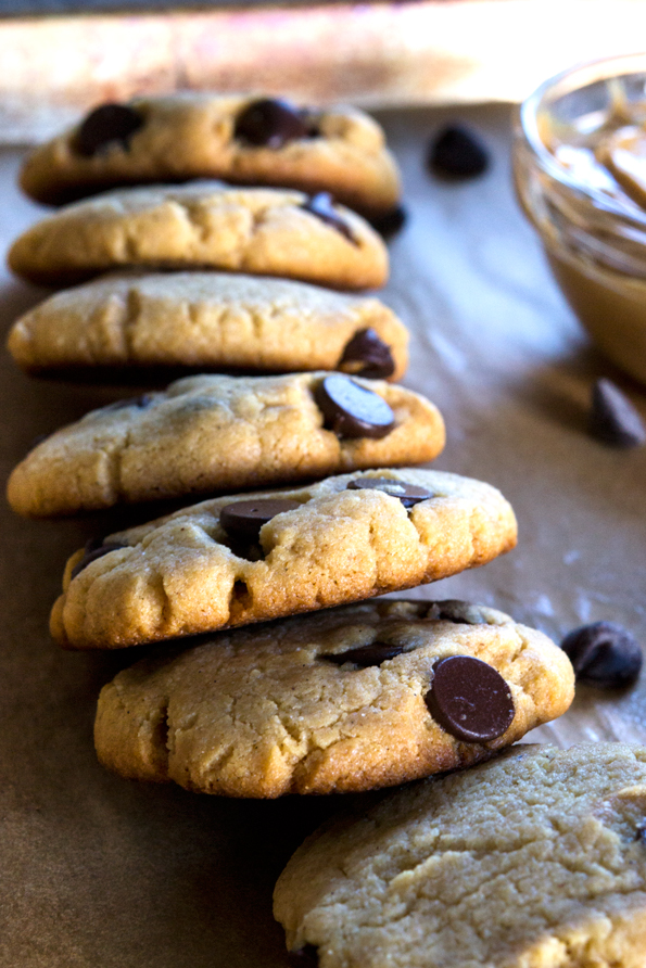 Gluten Free Peanut Butter Cake Mix Chocolate Chip Cookies