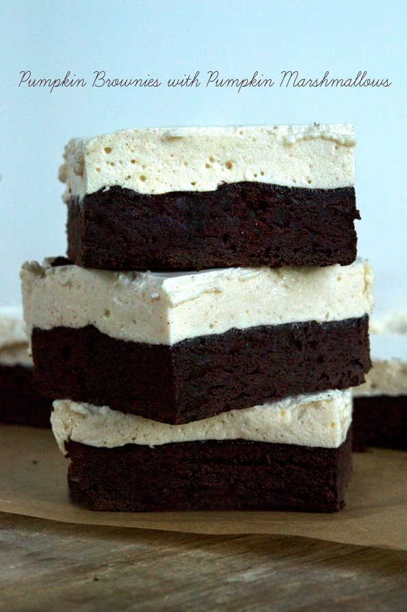 Stack of 3 pum[kin spice marshmallows