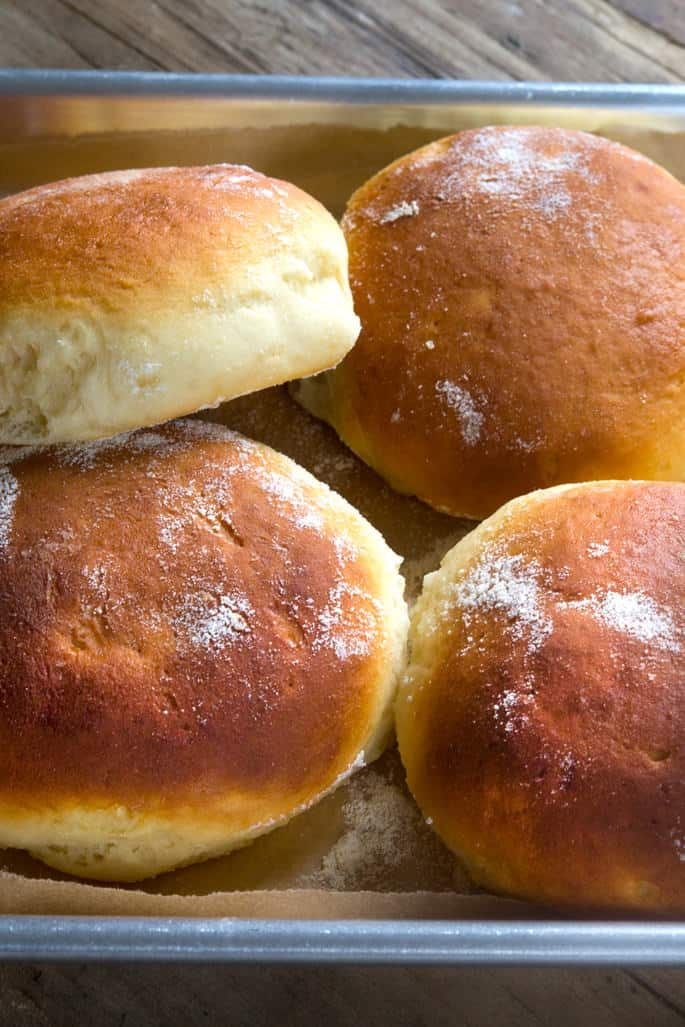 This recipe for soft and tender gluten free Hawaiian rolls makes the perfect gluten free bread for any occasion—for everything from dinner rolls to burger buns!