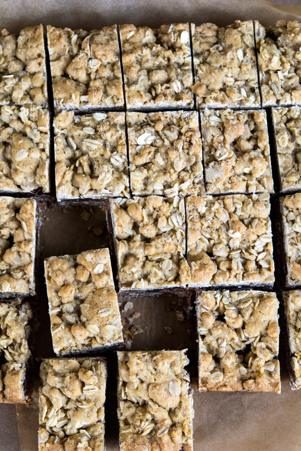 Gluten Free Oatmeal Cookie Chocolate Caramel Bars