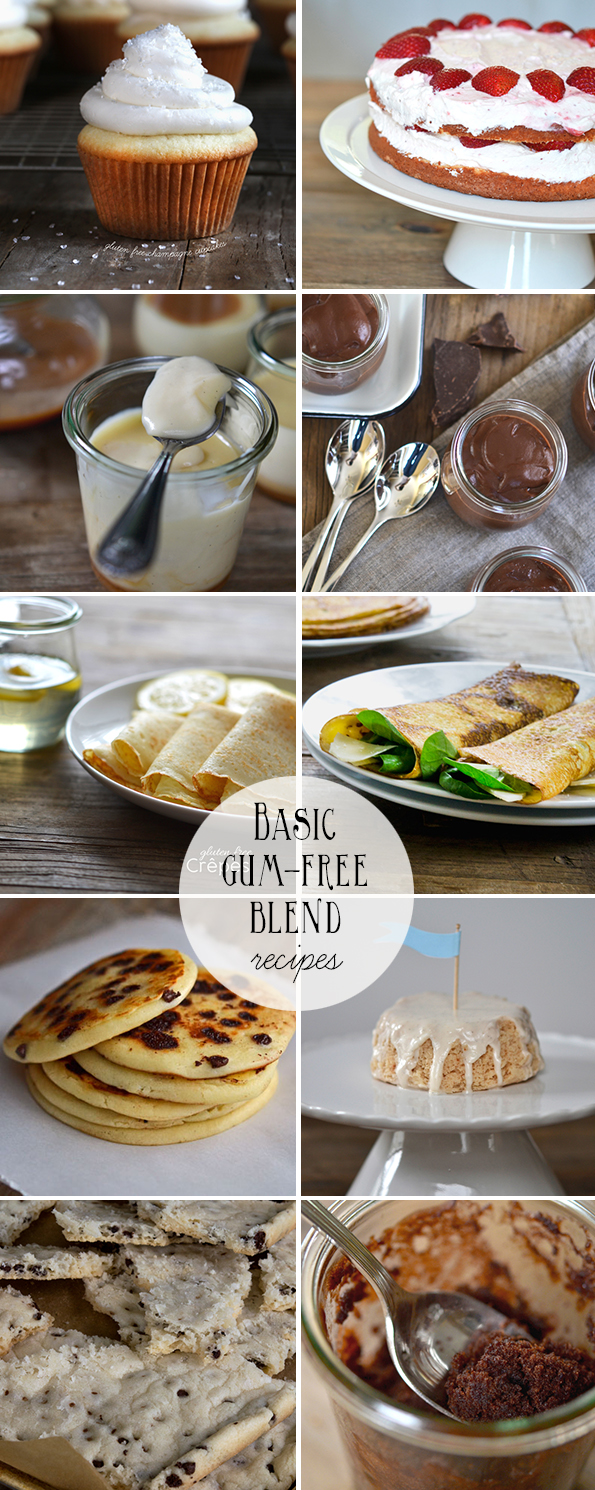 Basic Gum-Free Gluten Free Flour Blend Recipes