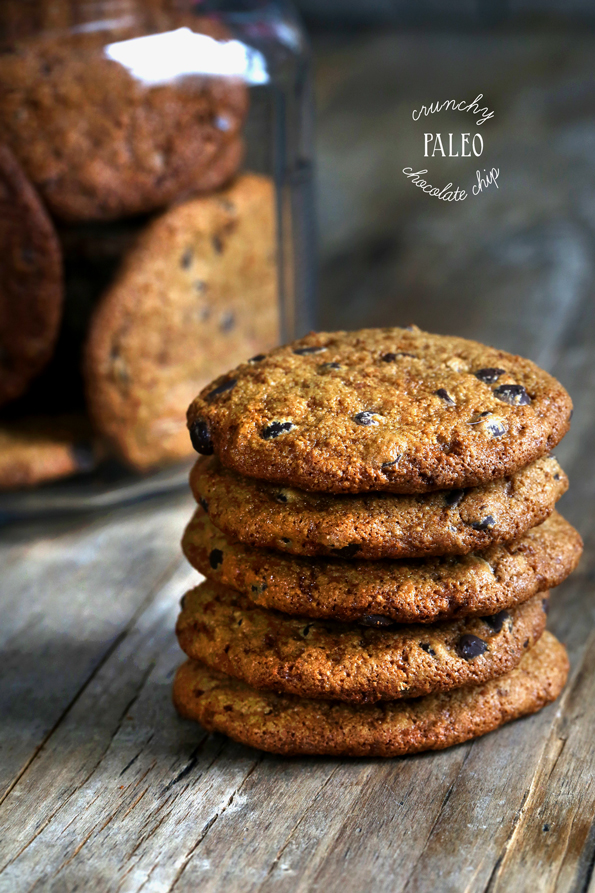 Crunchy Paleo Chocolate Chip Cookies