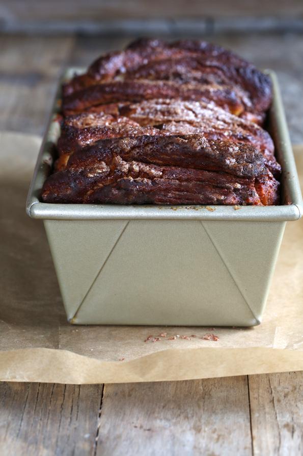 Bread in a metal loaf pan