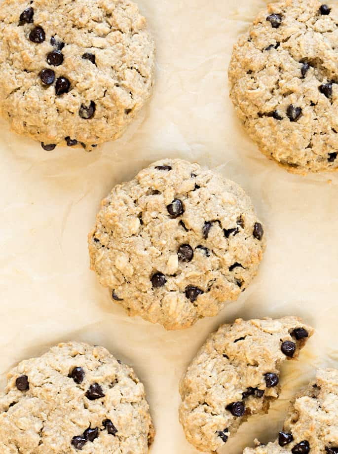 Easy gluten free oatmeal breakfast cookies are sweetened only with honey and a bit of applesauce. They're the perfect make-ahead breakfast for a family on the go!