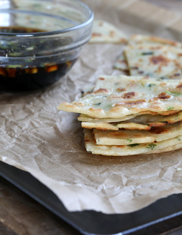 How to make Gluten Free Scallion Pancakes—step by step!