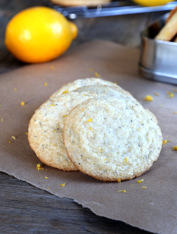 Gluten Free Lemon Poppyseed Cookies