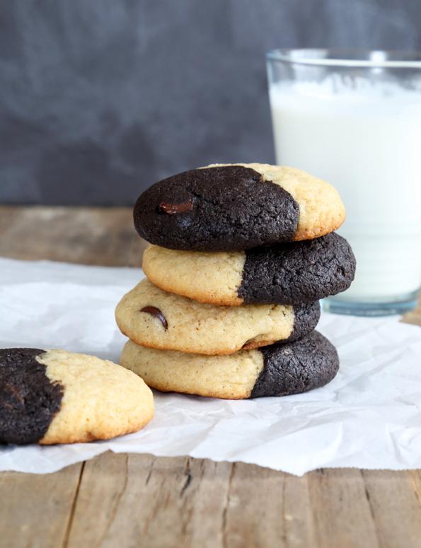 Gluten Free Half Brownie Half Cookie Cookies
