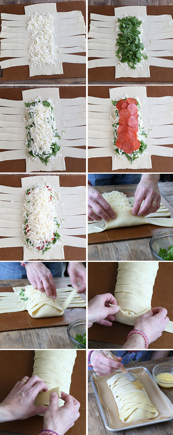 The perfect gluten free pizza crust, stuffed full of spinach, pepperoni and, of course, plenty of cheese. This pizza dough handles so beautifully and tastes so authentic, you won't believe it's gluten free!