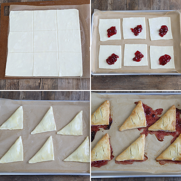 Easy Gluten Free Cherry Turnovers - Step by Step How-To