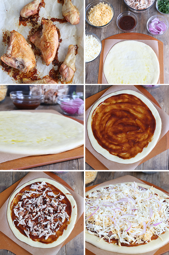California Pizza Kitchen-Style Gluten Free BBQ Chicken Pizza—Step by Step How-to!!