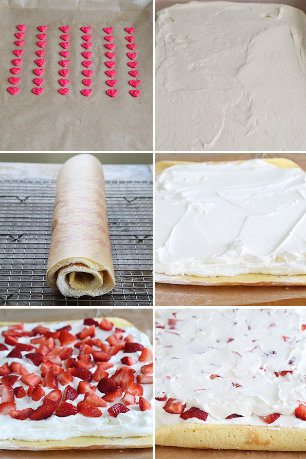 Gluten Free Strawberry Cake Roll Step by Step How-To