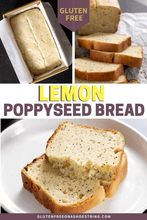 This gluten free lemon poppyseed bread is a classic, with the subtle taste of fresh lemon from lemon juice and zest. And it turns out moist and tender every time.