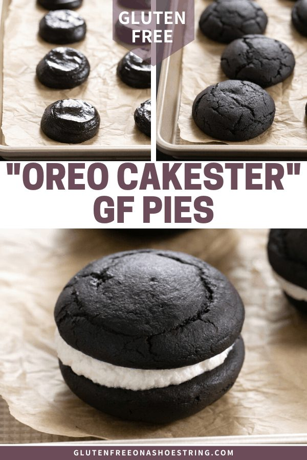 These gluten free Oreo Cakesters style pies are the cream-filled deep chocolate, pillow-soft snack cakes of your dreams.