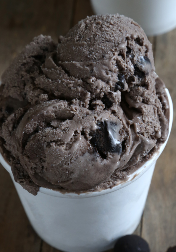 Gluten Free Chocolate Brownie Dough Ice Cream