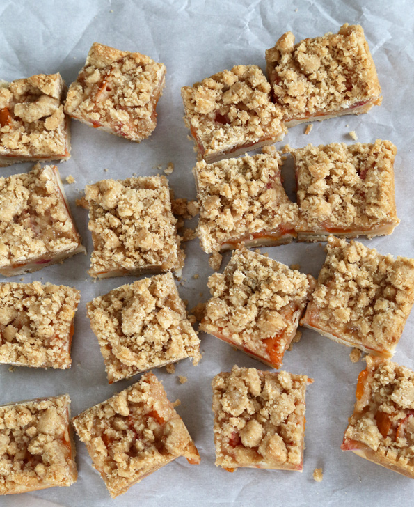 Gluten Free Apricot Crumble Bars