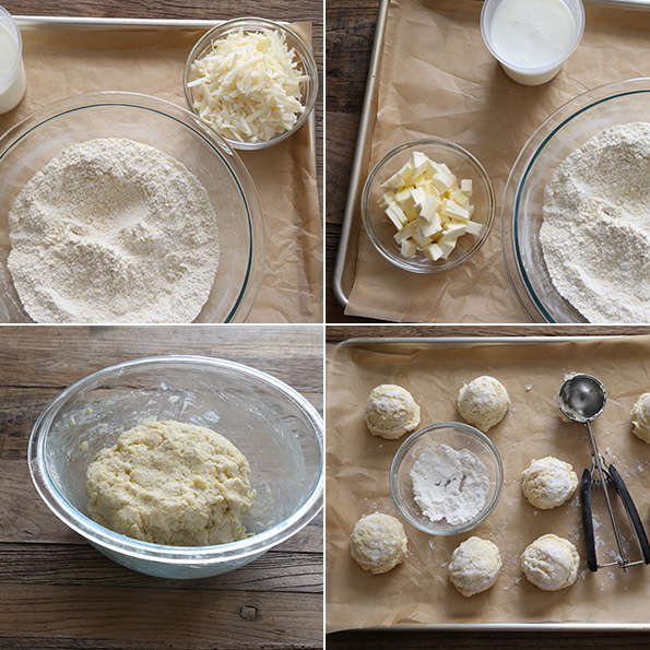 Gluten Free Cornmeal Drop Biscuits - step by step