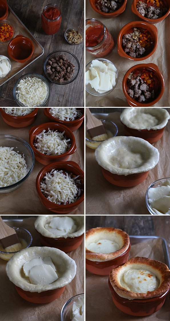 Gluten Free Pizza Pot Pies - Step by Step