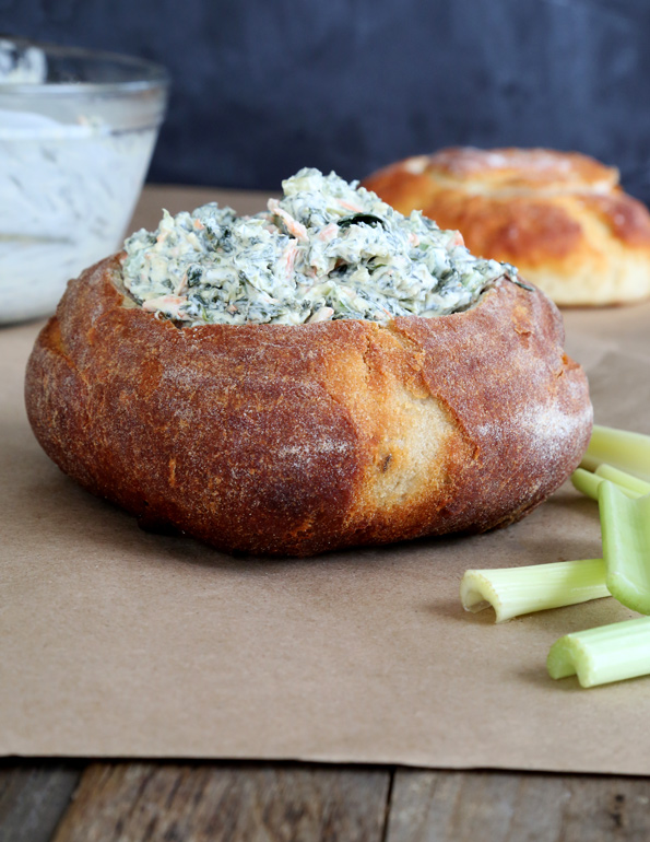 """Spinach Dip with Homemade Onion """"Soup Mix"""""""
