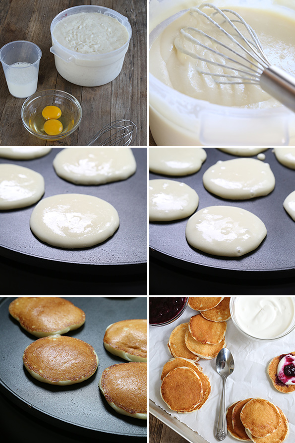Gluten Free Yeasted Pancakes Step By