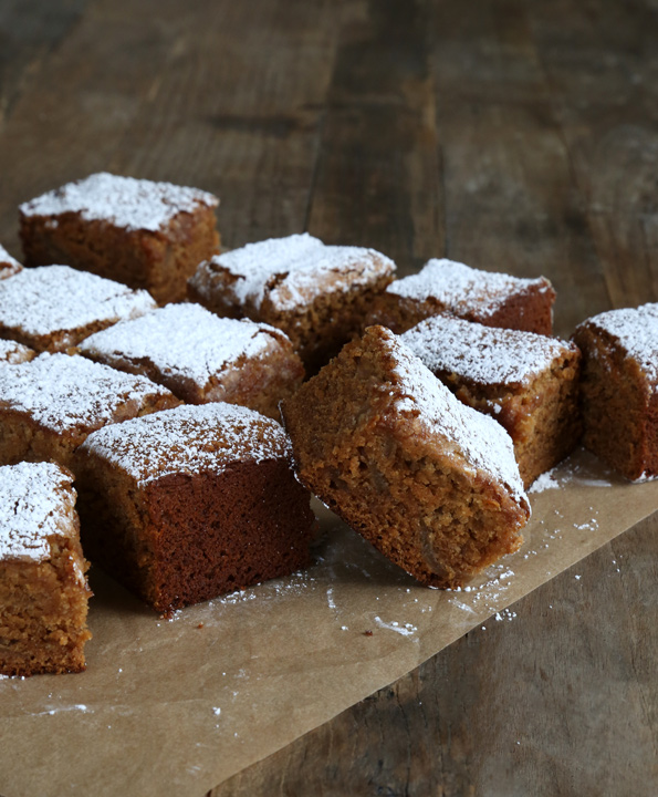 Gluten Free Apple Gingerbread Snack Cake