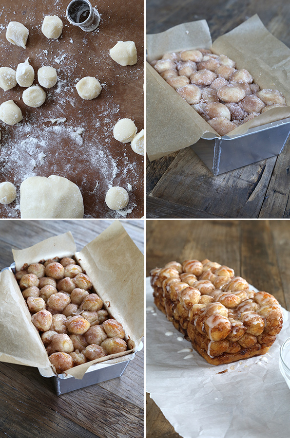 Super easy to make, this gluten free monkey bread is perfect for the little hands of little helpers and will make your house smell like amazing cinnamon-goodness!