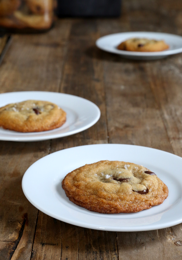 Gluten Free Browned Butter Nutella Chocolate Chip Cookies