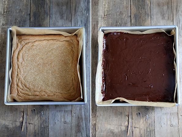 Peanut Butter Chocolate Gluten Free Shortbread Bars