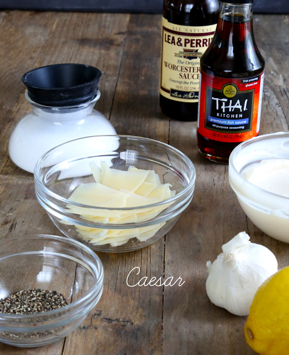 Easy Homemade Salad Dressings: Caesar ingredients