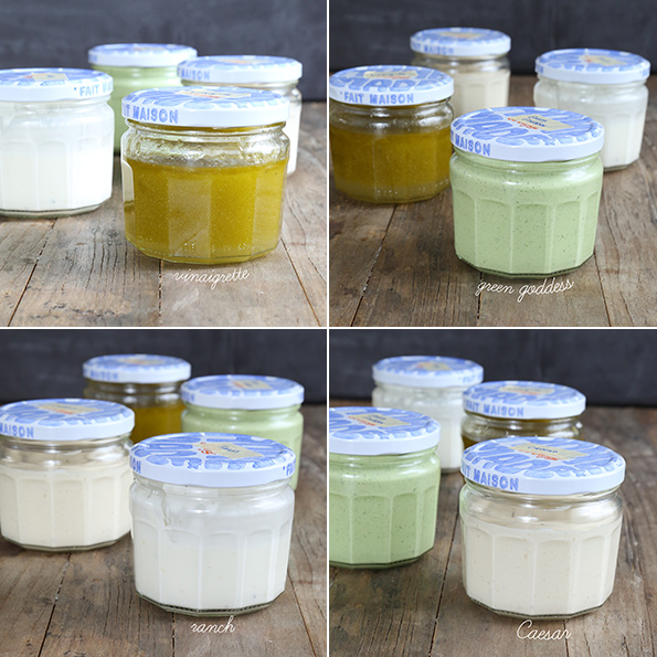Easy Homemade Salad Dressings: Vinaigrette, Green Goddess, Ranch and Caesar