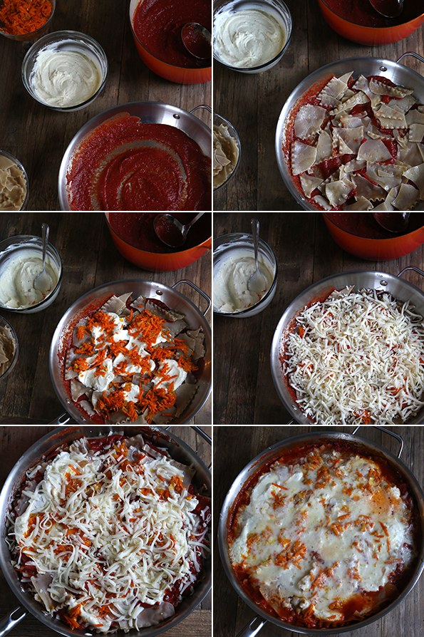 Gluten Free Skillet Lasagna Step by Step