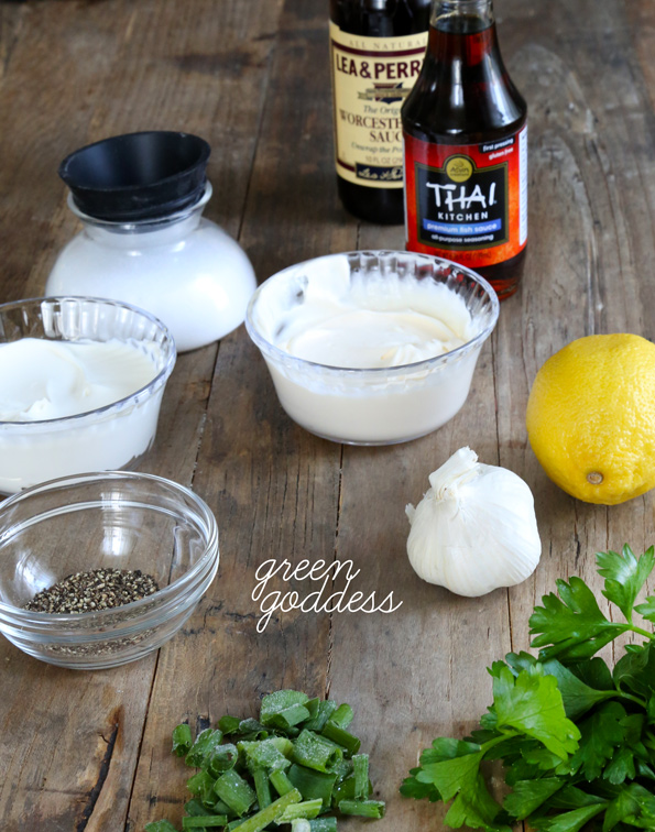 Easy Homemade Salad Dressings: Green Goddess ingredients