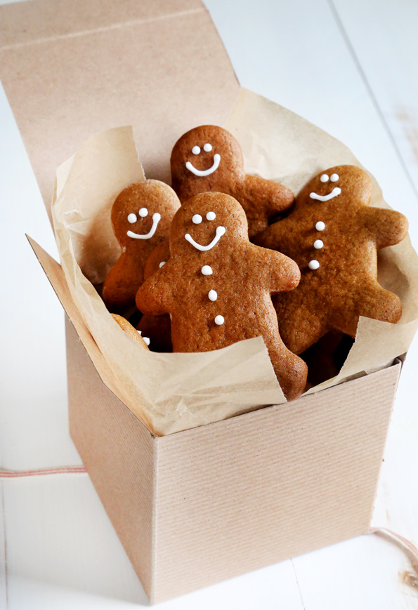 These soft and chewy gluten free gingerbread men cookies are perfectly spiced for all your holiday cookie-baking needs—or any time of year.
