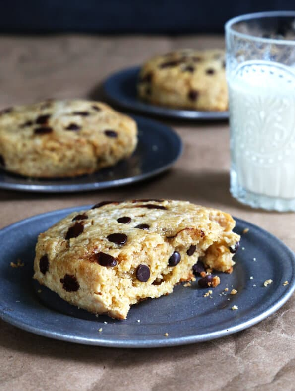Light & Flaky Paleo Chocolate Chip Scones