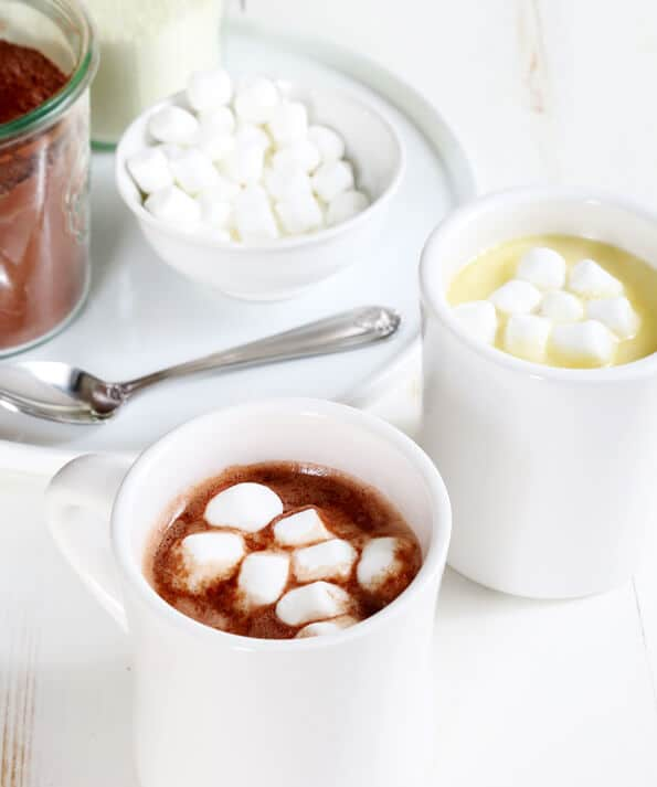 Homemade Gluten Free Hot Chocolate Mix and White Hot Chocolate Mix