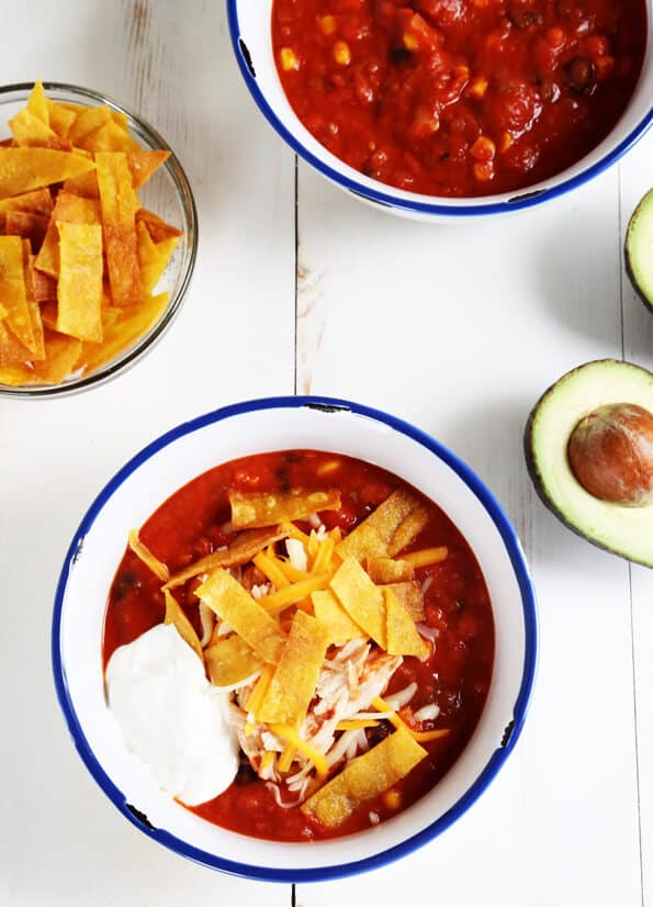 Gluten Free Taco Soup—comfort in one easy, healthy bowl!